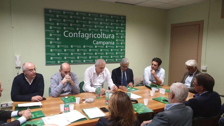 Confagricoltura Campania, il direttivo incontra il consigliere delegato all'agricoltura della Regione Campania On. Caputo