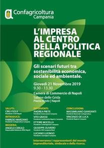 """Evento Confagricoltura Campania """"L'IMPRESA AL CENTRO DELLA POLITICA REGIONALE"""""""