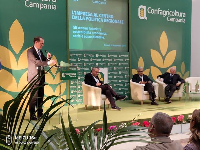 Convegno a Napoli su Impresa e Politica con Giansanti, Marzano e De Luca